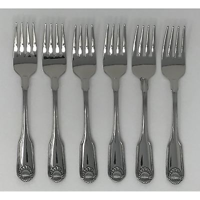 GENUINE CLASSIC SHELL DINNER FORKS ONEIDA NEW 18//10 S//S FREE SHIPPING US ONLY