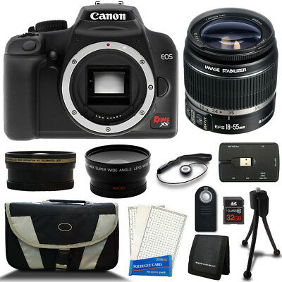 Canon Rebel XS Black EOS 35mm SLR Camera with EF-S 18-55mm f/3.5-5.6 IS II Lens