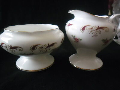 """Lovely Crown Staffordshire """"wentworth"""" Footed Jug And Bowl"""
