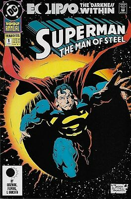 Superman The Man of Steel Annual No.1 / 1992 Eclipso The Darkness within