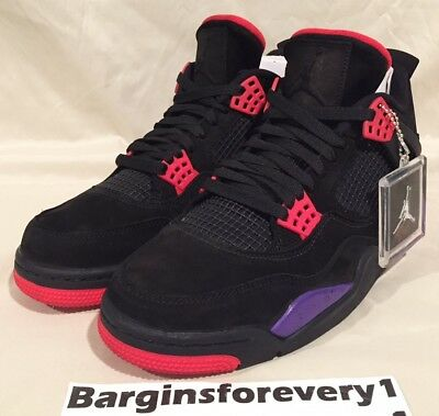 418e43fbc88 2018 NIKE AIR Jordan 4 IV NRG Raptors Black Court Purple AQ3816 065 ...