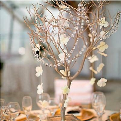 100*100cm Wedding Plastic Garland Crystal Bead Chandelier Hanging Decor CN