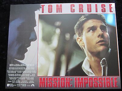MISSION IMPOSSIBLE lobby card # 9 - TOM CRUISE, BRIAN DE PALMA,