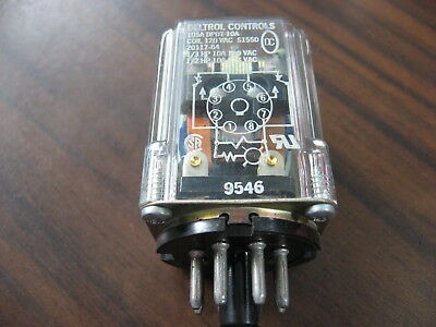 DELTROL CONTROLS 20117-84 Cube Relay (8 Pin Round, 120 VAC Coil)
