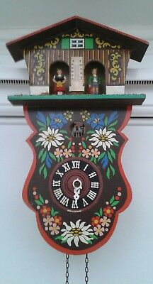 Unique Vintage Cuckoo Clock With Weather Station Above! Working Condition