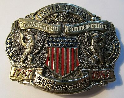 U.S. CONSTITUTION - 200th Anniversary Belt Buckle 1787-1987  United States - USA