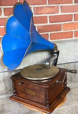 Antique HARMONY DISC Columbia PHONOGRAPH Record Player Original Working Restored