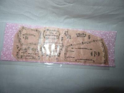 Miniature Dollhouse 1:12 Scale Pattern Pinned On  Pink Fabric-Artist Piece.-215A