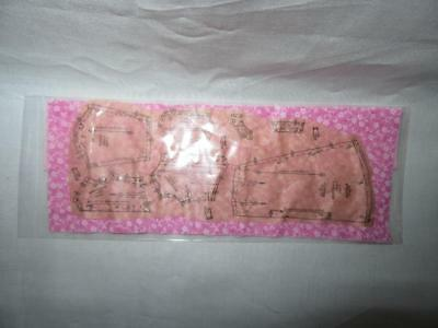Miniature Dollhouse 1:12 Scale Pattern Pinned On  Pink Fabric-Artist Piece.-215B