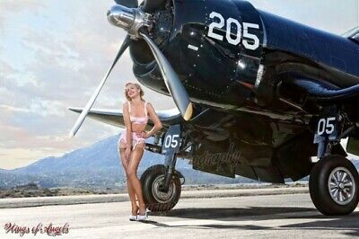 Wings of Angels Michael Malak Pin Up Print of Ashten Goodenough and the WWII Cor