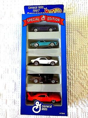 1997 General Mills Special Edition Designer Collection Hot Wheels Set