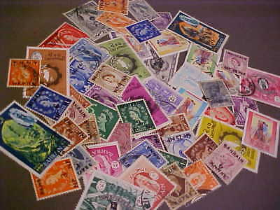 55 Different Bahrain Stamp Collection - Lot