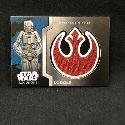 L-1 Droid  Star Wars: Rogue One - Commemorative Patch Card
