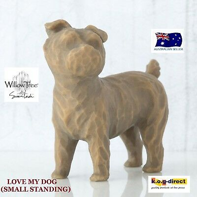 LOVE MY DOG (SMALL STANDING) Willow Tree Demdaco Figurine By Susan Lordi New