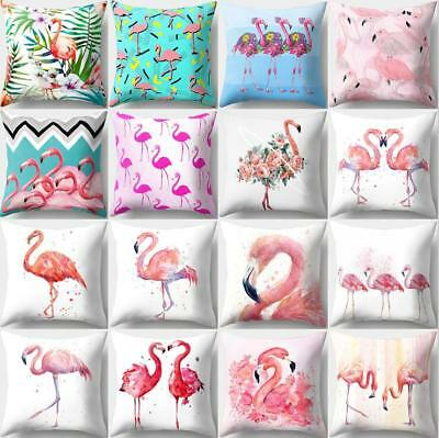 Cartoon Flamingo Pillow Case Cover Sofa Waist Cushion Cover Home decor Polyester