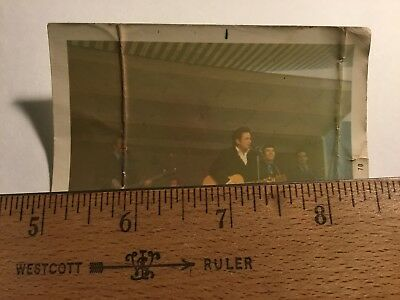 Original Unpublish Johnny Cash Concert Candid Kodak Photo / 1970 / Sun Memphis