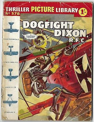 "Dated 1961. ""DOGFIGHT DIXON"". Thriller Picture Library War Comic # 378."