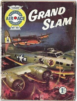 "Dated 1961. Vintage ""AIR ACE"" Picture Library Comic # 49. ""Grand Slam"""