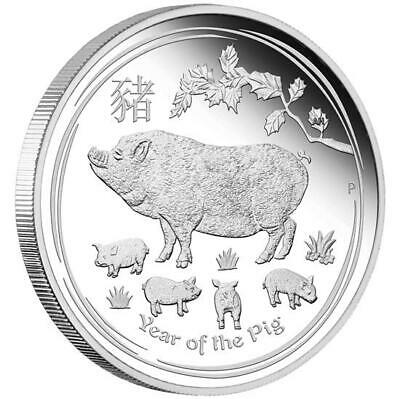 1 Kilo Argenté Proof Australian Lunar Year Of The Dog Pièce de Monnaie ( Sii )