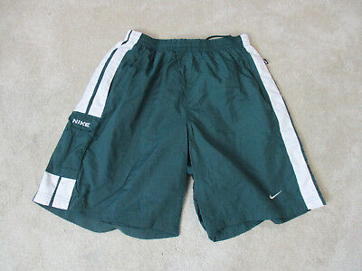 03a4f88362 VINTAGE Nike Swim Trunks Shorts Adult Large Green White Swoosh Spell Out  Mens