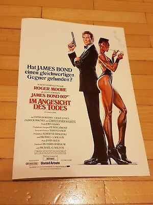 James Bond - Im Angesicht des Todes Kinoflyer 1985 Roger Moore,Duran Duran