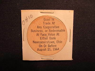 1964 Newcomerstown, Ohio Wooden Nickel token - Newcomerstown, OH Wooden Coin