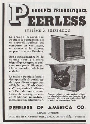 1937 Print Ad Refrigerators Cooling Systems Peerless Of America Co Detroit