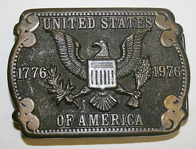 UNITED STATES OF AMERICA'S BICENTENNIAL 1776-1976  Brass Belt Buckle