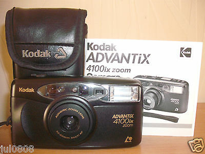 KODAK ADVANTIX 4100ix ZOOM QTZ DATE~PANORAMA APS FILM CAMERA~30-60MM LEN 45JY12