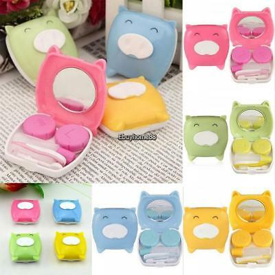 Portable Cute Cartoon Animal Piglet Contact Lens Solution Box Storage EHE8
