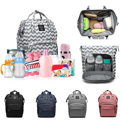 Waterproof Large Baby Nappy Changing Bag Mummy Diaper Backpack Travel Rucksack