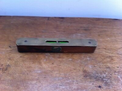 DECORATIVE VINTAGE WOOD & BRASS ROBERT SORBY KANGAROO SPIRIT LEVEL 6.2 inches