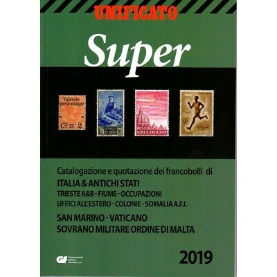 UNIFICATO SUPER 2019 CATALOGO FRANCOBOLLI AREA ITALIANA e ANTICHI STATI NUOVO MF