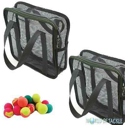 2 x Air Dry Mesh Boilie Bags with Handles up to 5kg Each - 26 x 9 x 26cm