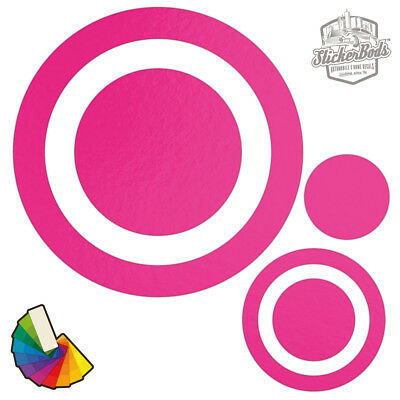 20 Circle Spot Dot Car & Wall Stickers / Decals | Choose from 30 Colours S3