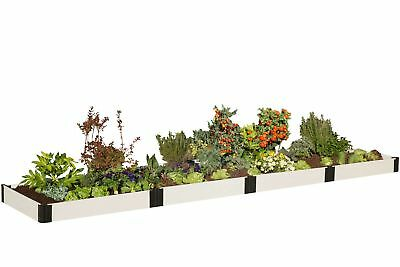 Frame It All Classic White 16 ft x 4 ft Manufactured Wood Raised Garden