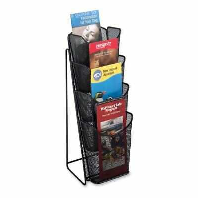 """Safco Onyx Mesh Pamphlet Displays - 16.5"""" Height X 5.3"""" Width X 7"""" (5641bl)"""