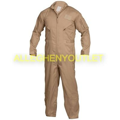 US Military Flyer's Flight Suit Coveralls Tan CWU-27P USAF Many Sizes MINT/LN
