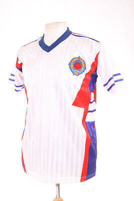Yugoslavia White Away Italia 90 1990 Retro Replica Football Shirt L Large