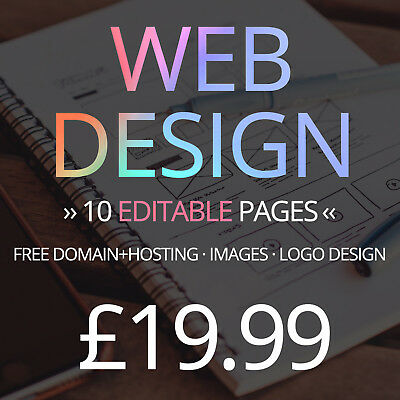 10 Page Website Web Design Service - Domain, Hosting, Images and logo included