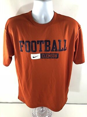 b578d07c Nike Dri-Fit Men's Clemson Tigers Football Orange T-Shirt Performance  Purple MD