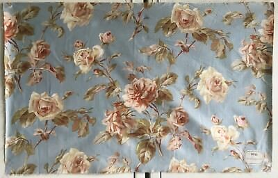 Beautiful Late 19th / Early 20th C. French  Floral/ Rose  Printed Fabric (2450 )