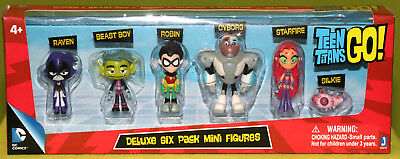 Teen Titans Go! Deluxe Six Pack Mini Figures! SIGNED by Beast Boy/Greg Cipes!