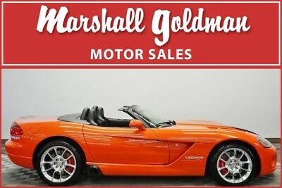 Dodge Viper  2008 Dodge Viper SRT10 Viper Very Orange Pearl with black stripes only 226 miles