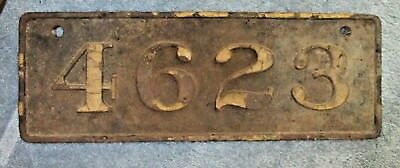 Victorian Antique Cast Iron Street House Number 4623 Weighs 18 Pounds