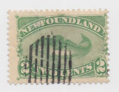 1880-1896 Newfoundland - Cod Fish - Green 2 Cent Stamp