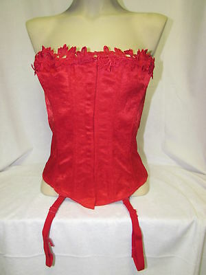 REDCorset by Empire/Overbust/Steel Bones/Front Hook and Eyes & Back Lacing/Sz 40