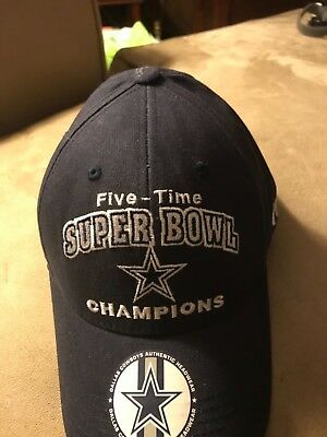 NFL 5-Time X Super Bowl Champions DALLAS COWBOYS Cap Hat  New with Minor 40b8f1447