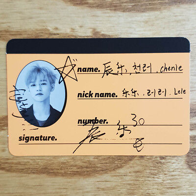 Chenle Official Crew Photocard NCT Dream The 2nd Mini Album We Go Up Genuine