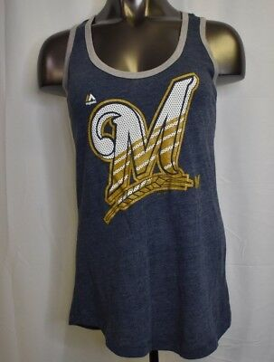 b9b930a8495d0 MAJESTIC THREADS MLB Womens Milwaukee Brewers Triblend Shirt NWT S ...